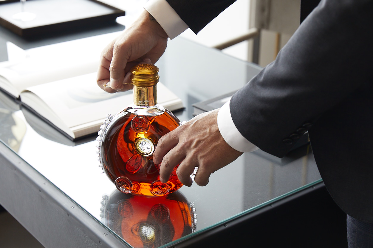 detail of Louis XIII bottle
