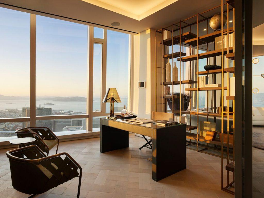 Grand Penthouse Study at Sunset