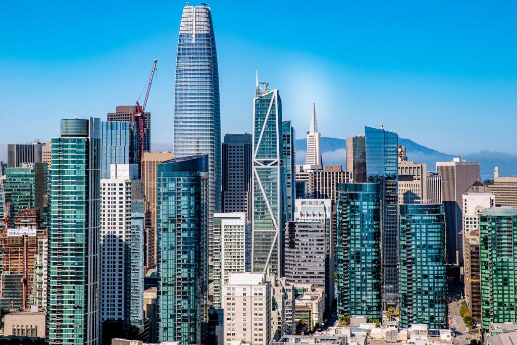 181 Fremont Exterior in SF Skyline