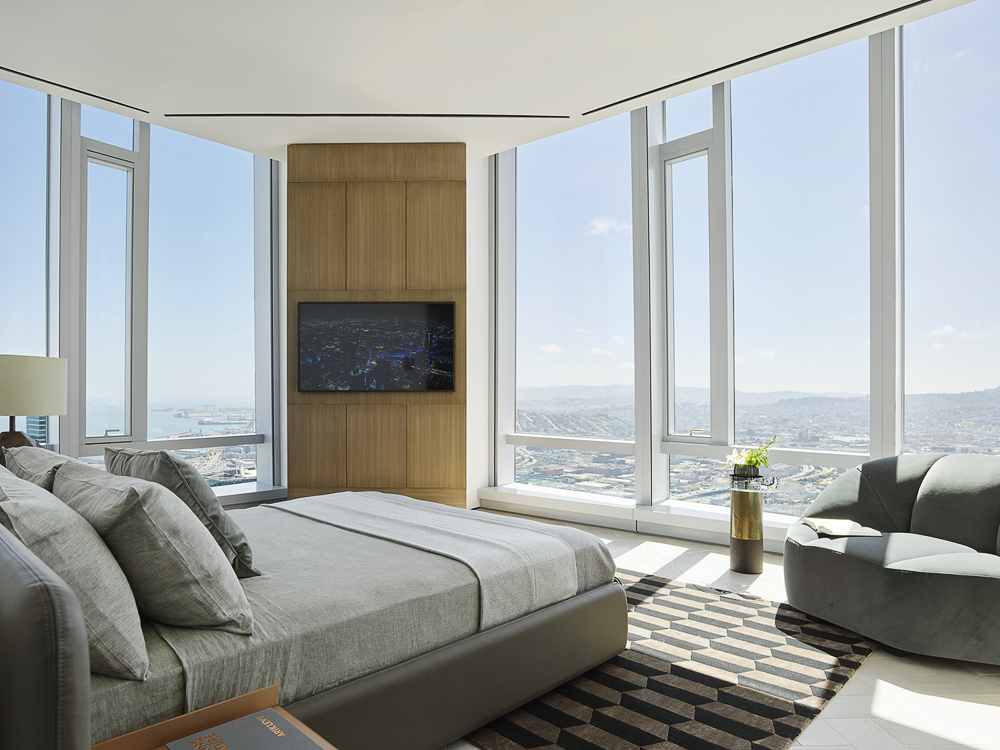 Grand Penthouse Secondary Bedroom with light flowing in