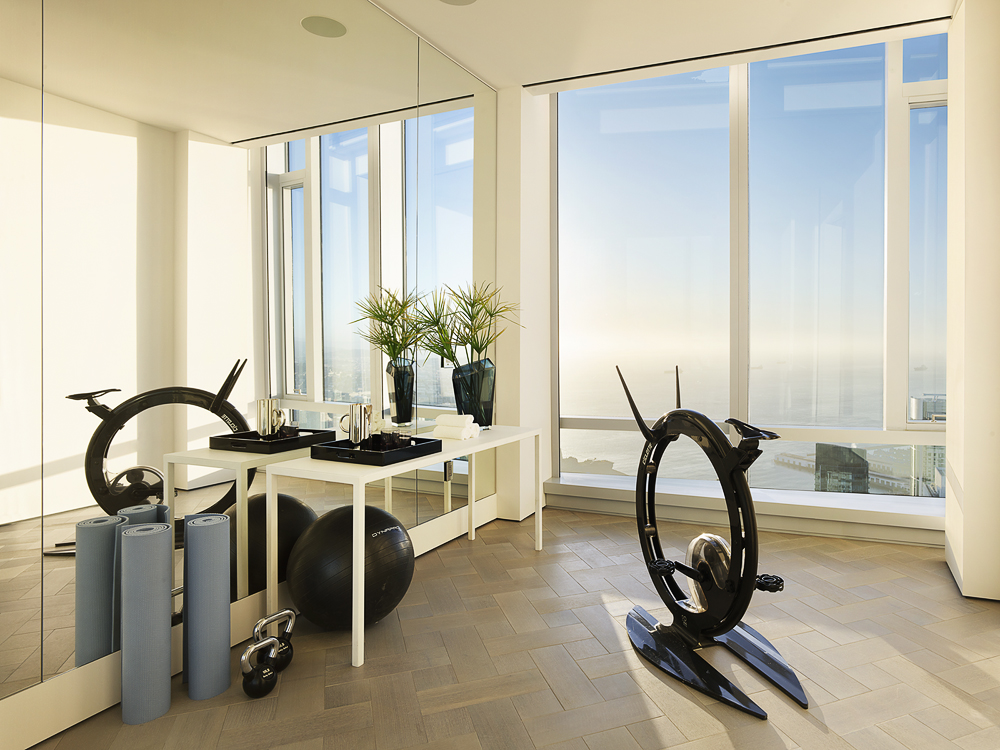 Grand Penthouse personal gym area