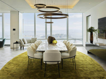 Grand Penthouse dining room with panoramic views